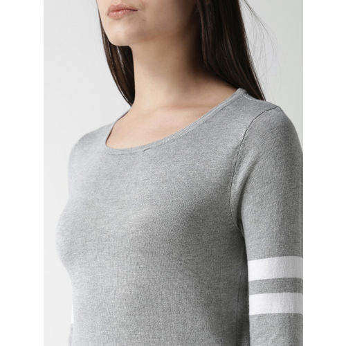 FOREVER 21 Women Grey Solid Pullover
