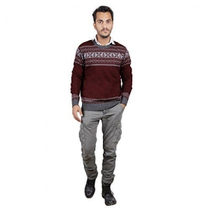 Numero Uno Full Sleeves Maroon Sweater