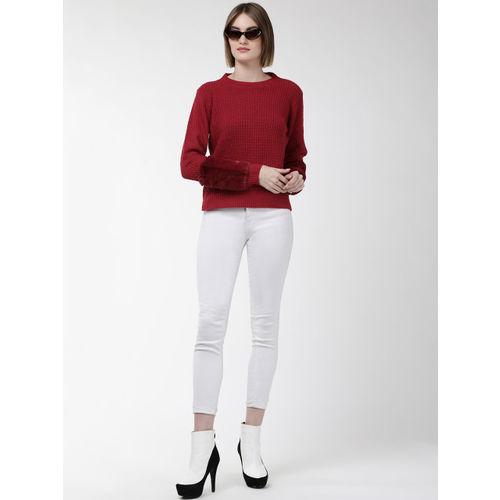 Fort Collins Women Red Solid Sweater