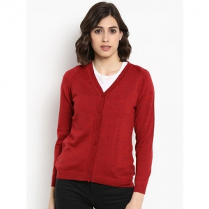 Monte Carlo Women Red Solid Sweater