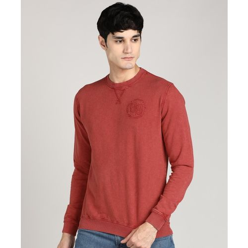Peter England Full Sleeve Solid Men Sweatshirt