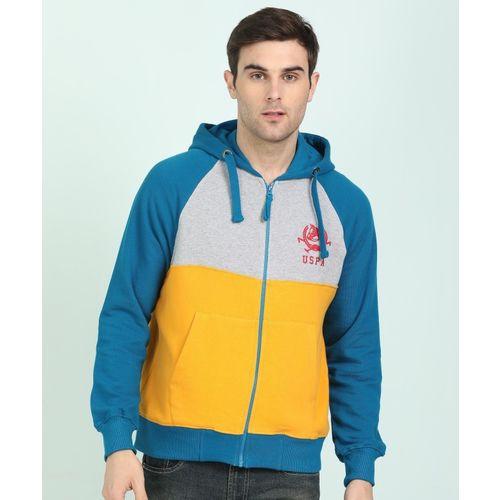 U.s.Polo Association Full Sleeve Color Block Men Sweatshirt