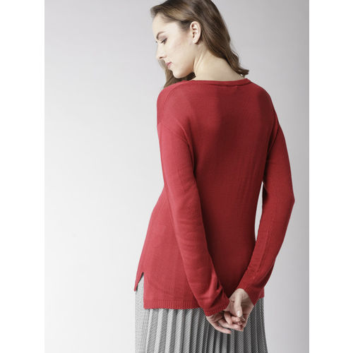 Mast & Harbour Women Red Solid Pullover