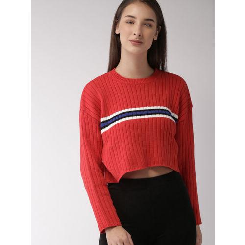Yuvanika Sarees Women Red Crop Pullover