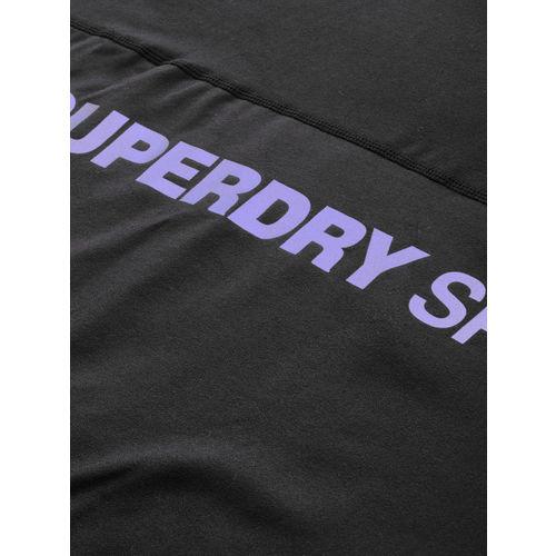 Superdry Women Black Printed Hooded Sweatshirt