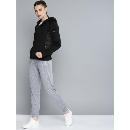 HRX by Hrithik Roshan Women Black Solid Active Hooded Sweatshirt