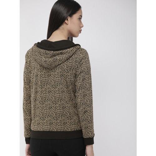 Levis Women Black Solid Reversible Hooded Sweatshirt