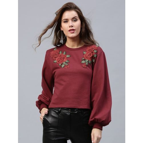 Sassafras Full Sleeve Applique Women Sweatshirt