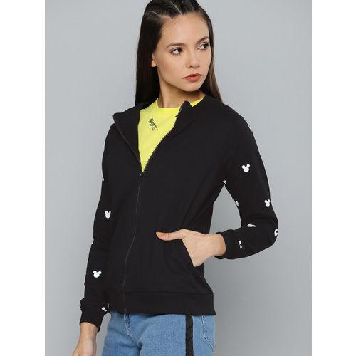 Kook N Keech Disney Women Black Printed Sweatshirt