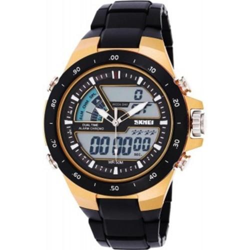 Skmei AD1016-Gold Sports Analog-Digital Watch