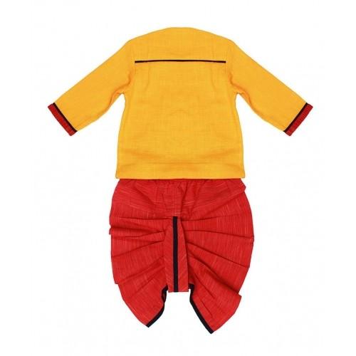 5bd1964b1 Buy Tiber Taber Yellow & Red Elephantasia Dhoti Kurta online ...