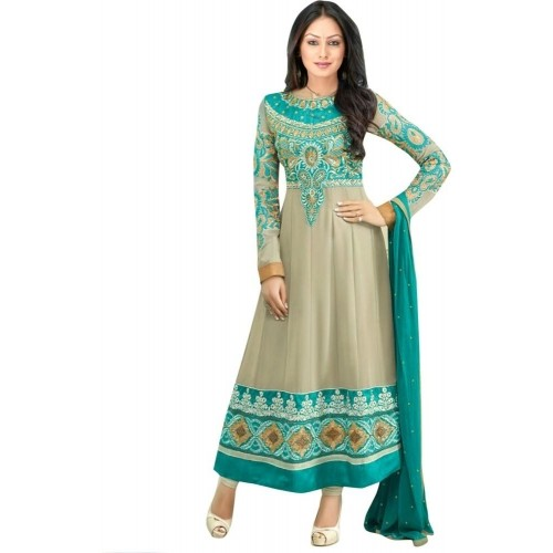 cb17d6b50505 ... Reya Georgette Embroidered Semi-stitched Salwar Suit Dupatta Material  ...