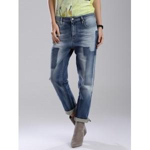 GAS Blue Boyfriend Fit Juice Jeans