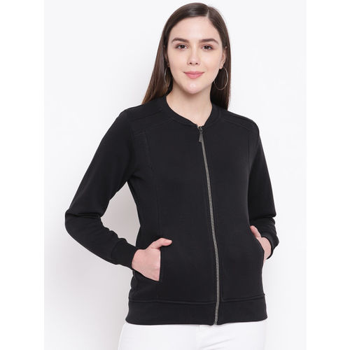 Monte Carlo Women Black Solid Sweatshirt