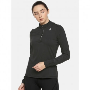 Reebok Women Black Solid OSR THERMOWARM Running Sweatshirt