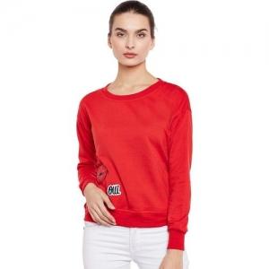 Belle Fille Full Sleeve Solid Women Sweatshirt