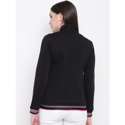 Monte Carlo Women Black Solid Sweatshirt