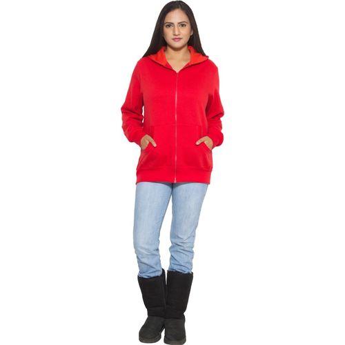Finesse Full Sleeve Solid Women Sweatshirt