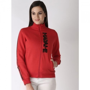 MADAME Full Sleeve Solid Women Sweatshirt