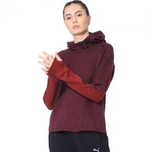 Puma Full Sleeve Self Design Women Sweatshirt