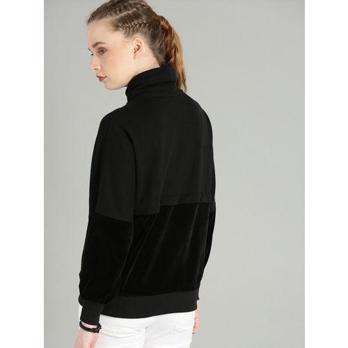 Roadster Women Black Solid Pullover Sweatshirt