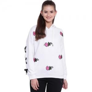 Texco Full Sleeve Self Design Women Sweatshirt