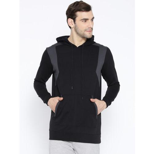 SKULT by Shahid Kapoor Men Black Solid Hooded Sweatshirt