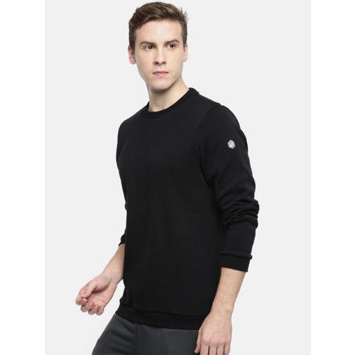 ASICS Men Black Printed Sweatshirt