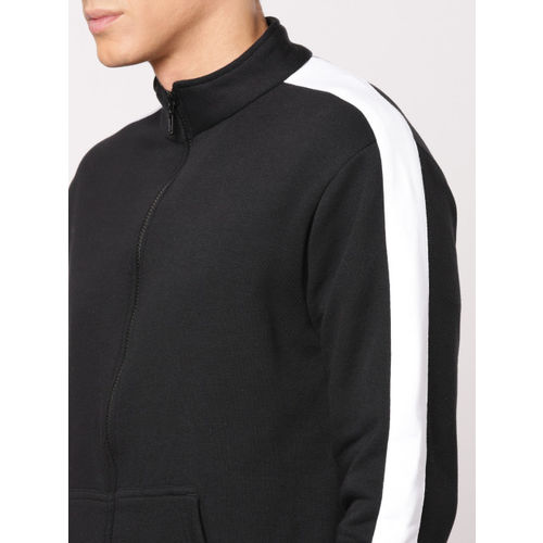 ether Men Black & White Contrast Panel Sweatshirt