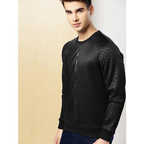 INVICTUS Men Black Self-Design Sweatshirt
