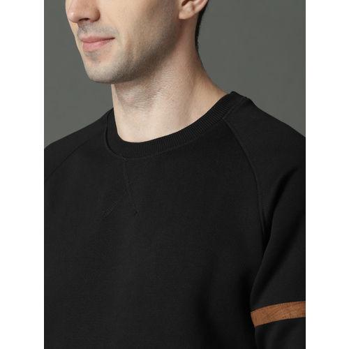 Roadster Men Black Solid Sweatshirt