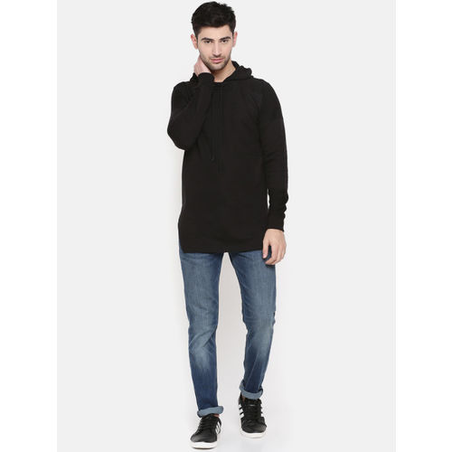 SKULT by Shahid Kapoor Men Black Solid Hooded Sweatshirt