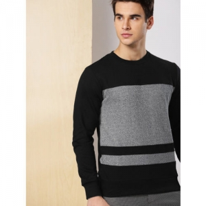 INVICTUS Men Black & Grey Self Design Sweatshirt