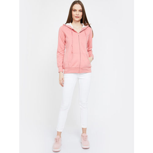 Fame Forever by Lifestyle Women Pink Solid Hooded Sweatshirt