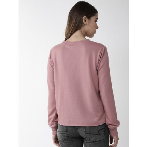 plusS Women Pink Printed Sweatshirt