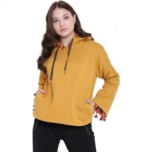 Texco Full Sleeve Colorblock Women Sweatshirt