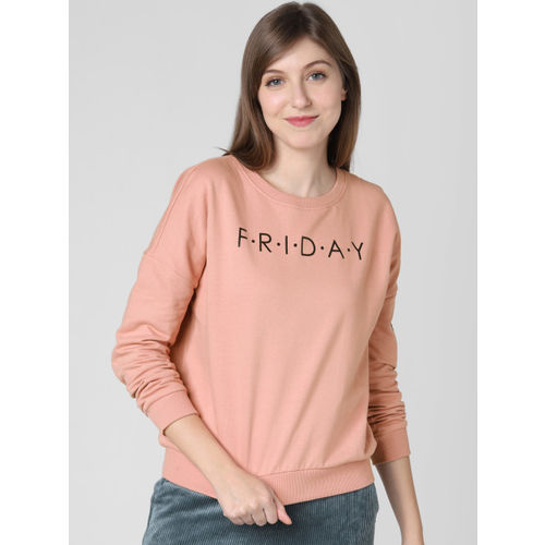 Vero Moda Women Pink Printed Sweatshirt