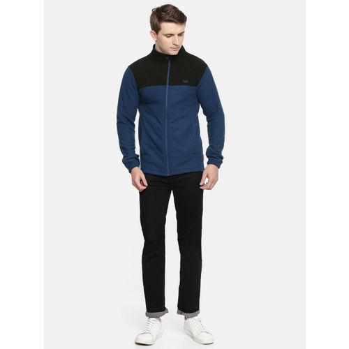 Wildcraft Men Navy Blue & Black Colourblocked Sweatshirt