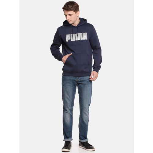 Puma Men Navy Blue Printed KA Hoody FL Hooded Sweatshirt