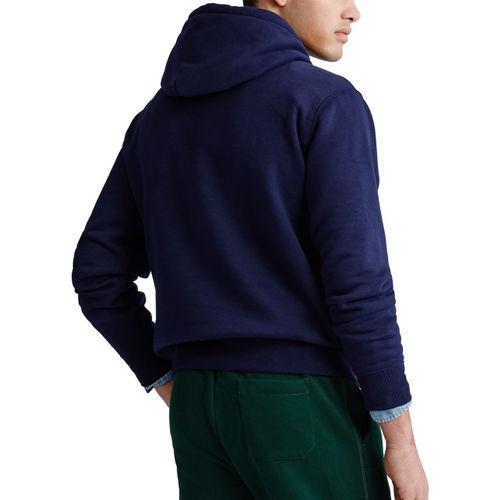 Polo Ralph Lauren Men Navy Blue Embroidered Hooded Sweatshirt