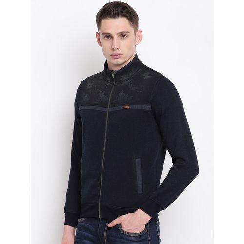 Monte Carlo Men Navy Blue Solid Sweatshirt