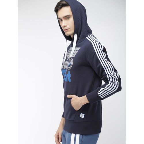 Superdry Sport Men Navy Blue Printed Hooded Surf Sport Loop Sweatshirt