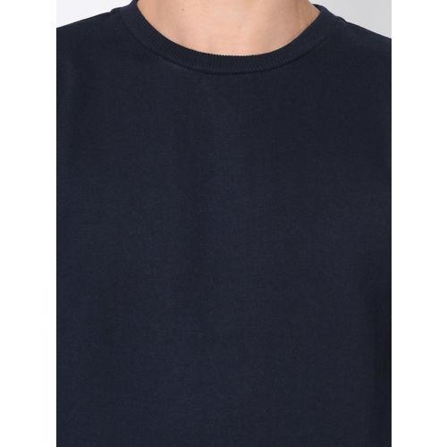 Rigo Men Navy Blue Solid Sweatshirt