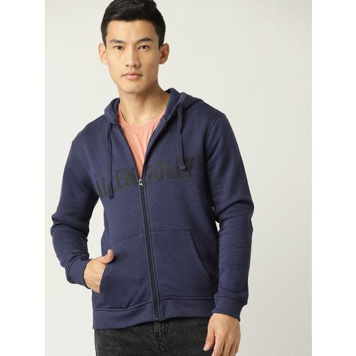 Allen Solly Sport Men Navy Blue Solid Hooded Sweatshirt