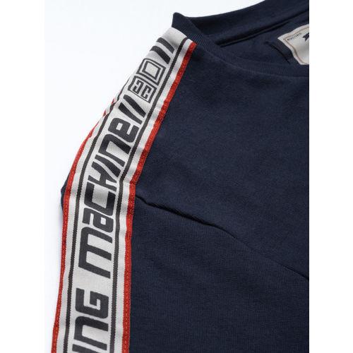 Buy Flying Machine Men Navy Blue Solid Sweatshirt online ...
