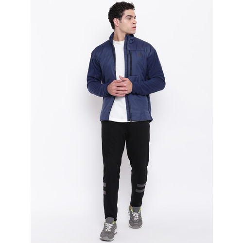 ADIDAS Men Navy Blue Outdoor Wind Fleece Jacket