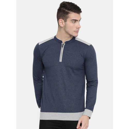 ARISE Men Navy Blue Solid Lightweight Pullover Sweatshirt