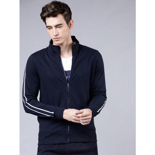 HIGHLANDER Men Navy Blue Solid Sweatshirt