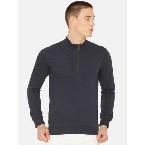 ARISE Men Navy Blue Solid Sweatshirt