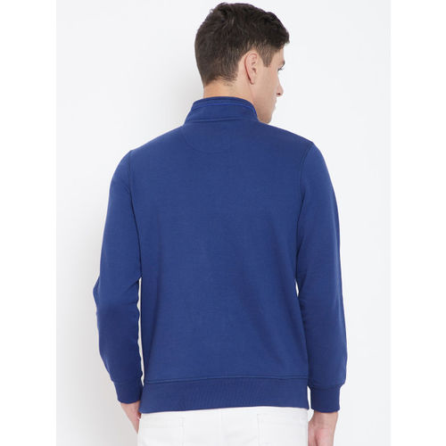 Monte Carlo Men Navy Blue Solid Sweatshirt